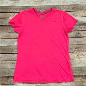 Nike Hot Pink Dri- Fit Tee
